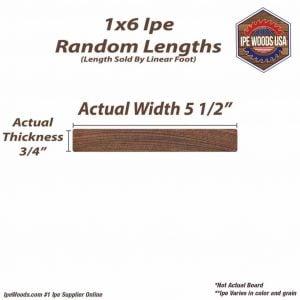1x6 Ipe Wood