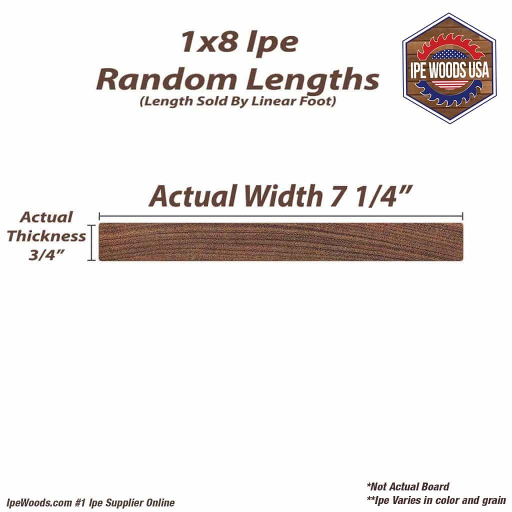 1x8 Ipe Eased Edge Random Lengths Ipewoods Com