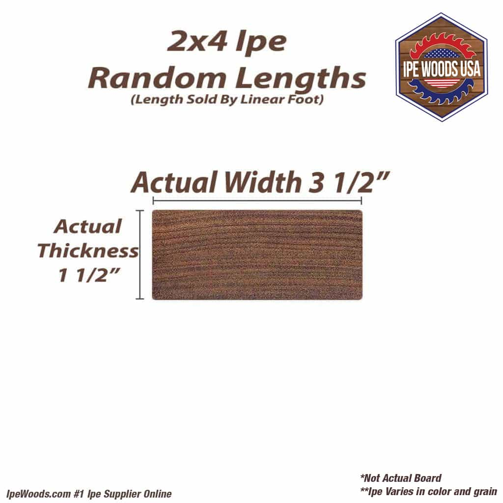 2x4 ipe decking random lengths for Standard deck board lengths